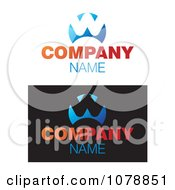 Clipart Abstract W And Sample Text Logos Royalty Free Vector Illustration