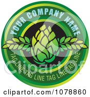 Clipart Green Bud And Circle Logo With Sample Text Royalty Free Vector Illustration by Lal Perera #COLLC1078860-0106