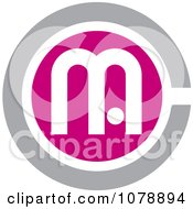 Clipart Pink And Gray MC Logo Icon Royalty Free Vector Illustration by Lal Perera