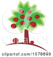Clipart Abundant Apple Tree Royalty Free Vector Illustration by Lal Perera