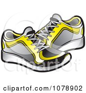 Clipart Pair Of Sneakers Royalty Free Vector Illustration