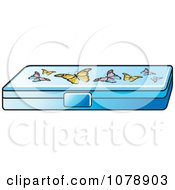 Clipart Butterfly Pencil Box Royalty Free Vector Illustration