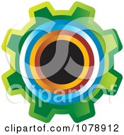 Clipart Colorful Gear Cog Logo Royalty Free Vector Illustration