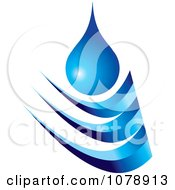 Clipart Blue Droplet And Wave Logo Royalty Free Vector Illustration by Lal Perera #COLLC1078913-0106