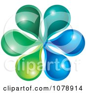 Clipart Gradient Flower Logo Royalty Free Vector Illustration