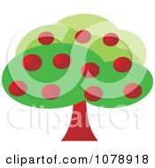 Clipart Lush Apple Tree Royalty Free Vector Illustration