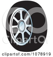 Clipart Single Car Tire Royalty Free Vector Illustration by Lal Perera