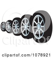 Clipart Black Car Tires Royalty Free Vector Illustration by Lal Perera