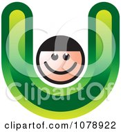 Clipart Letter U Person Royalty Free Vector Illustration