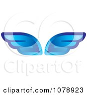 Clipart Blue Wings Royalty Free Vector Illustration
