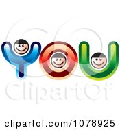 Clipart YOU Letter People Royalty Free Vector Illustration