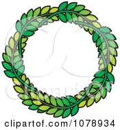 Clipart Green Leaf Laurel Wreath Royalty Free Vector Illustration by Lal Perera