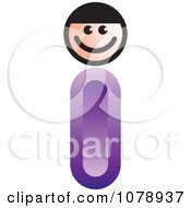 Clipart Letter I Person Royalty Free Vector Illustration