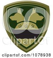 Clipart Green Alsatian Dog Shield Logo Royalty Free Vector Illustration by Lal Perera #COLLC1078938-0106