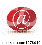 Clipart 3d Red Email Arobase Icon Royalty Free Vector Illustration