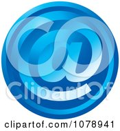 Clipart Blue Email Arobase Icon Royalty Free Vector Illustration