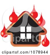 Clipart House With Blood Drops Royalty Free Vector Illustration