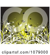 Clipart Green Floral Background With Foliage Royalty Free Vector Illustration