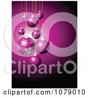 Clipart Purple Christmas Background With Baubles And Copyspace Royalty Free Vector Illustration