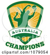Clipart Australia Champions Rugby Shield Royalty Free Vector Illustration