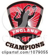 Clipart England Champions Rugby Shield Royalty Free Vector Illustration