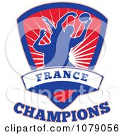 Clipart France Champions Rugby Shield Royalty Free Vector Illustration