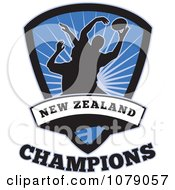 Clipart New Zealand Champions Rugby Shield Royalty Free Vector Illustration