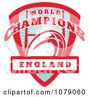 Clipart England World Champions Rugby Shield Royalty Free Vector Illustration