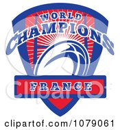 Clipart France World Champions Rugby Shield Royalty Free Vector Illustration