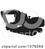 Clipart Black Silhouetted Digger Machine Royalty Free Vector Illustration by patrimonio