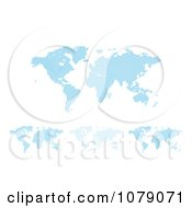 Clipart Blue World Maps Made Of Halftone Dots Royalty Free Vector Illustration by MilsiArt