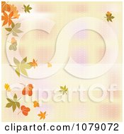 Blurred Autumn Background With A Border Of Falling Leaves
