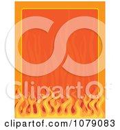 Border Frame Of Orange Flames