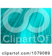 Clipart Background Of Turquoise Waves And Bubbles Royalty Free Vector Illustration