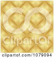 Clipart Golden Starry Diamond Christmas Pattern Background Royalty Free Vector Illustration