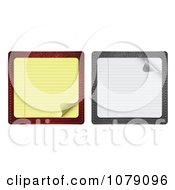 Clipart 3d Yellow And White Note Paper With Turning Corners Royalty Free Vector Illustration
