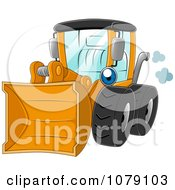 Clipart Yellow Wheel Loader Royalty Free Vector Illustration by BNP Design Studio