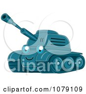 Clipart Happy Military Tank Royalty Free Vector Illustration by BNP Design Studio