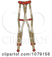 Pair Of Wooden Medical Crutches