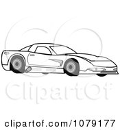 Clipart Ourlined Race Car Royalty Free Vector Illustration by Pams Clipart