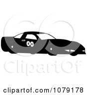 Clipart Black Race Car Royalty Free Vector Illustration by Pams Clipart