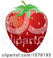 Clipart Ripe Red Strawberry Royalty Free Vector Illustration by Pams Clipart