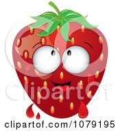 Clipart Dripping Ripe Strawberry Character Royalty Free Vector Illustration