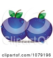 Clipart Dewy Blueberries Royalty Free Vector Illustration