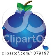 Clipart Dewy Blueberry Royalty Free Vector Illustration