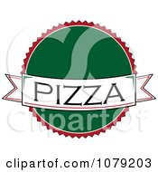 Pizza Banner Over A Green Circle Logo