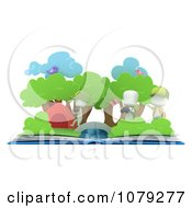 3d Ivory Kids In A Camping Pop Up Book