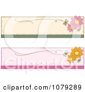 Clipart Set Of Bee And Flower Website Banners Royalty Free Vector Illustration