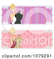 Clipart Set Of Fashion Designer Website Banners Royalty Free Vector Illustration