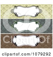 Set Of Vintage Baroque Damask Frame Website Banners